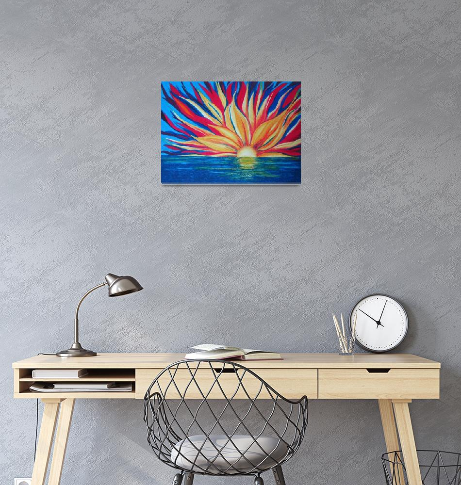 """Starburst sunrise""  (2005) by Cocasse"