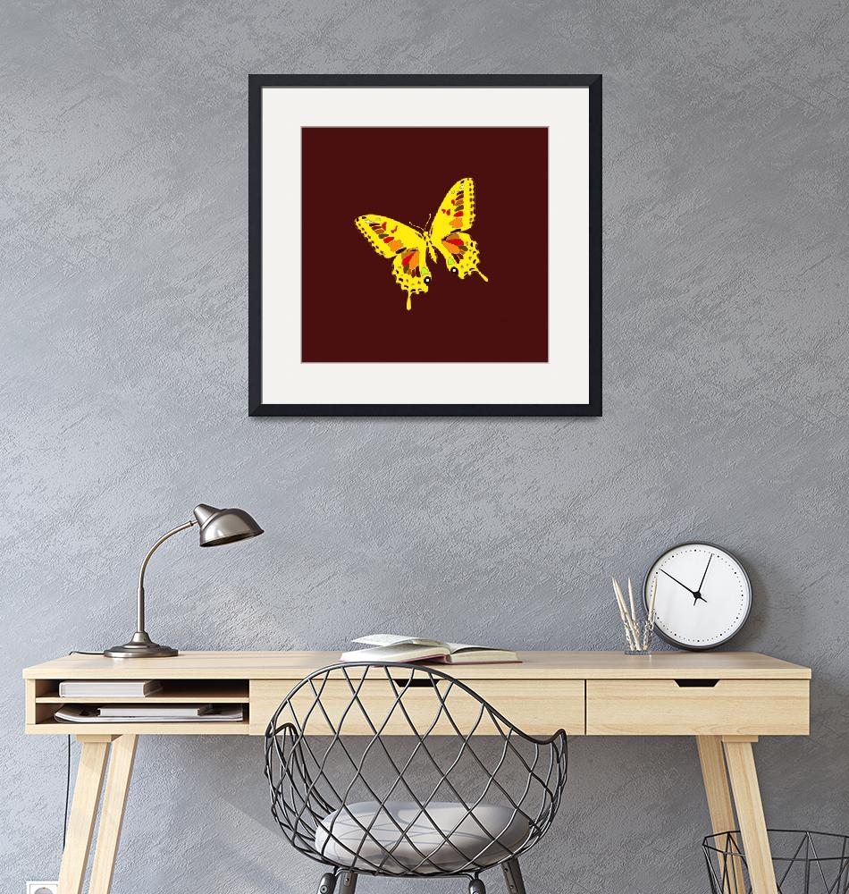 """""""Glowing Yellow Earth Tones Butterfly""""  (2013) by TheNorthernTerritory"""