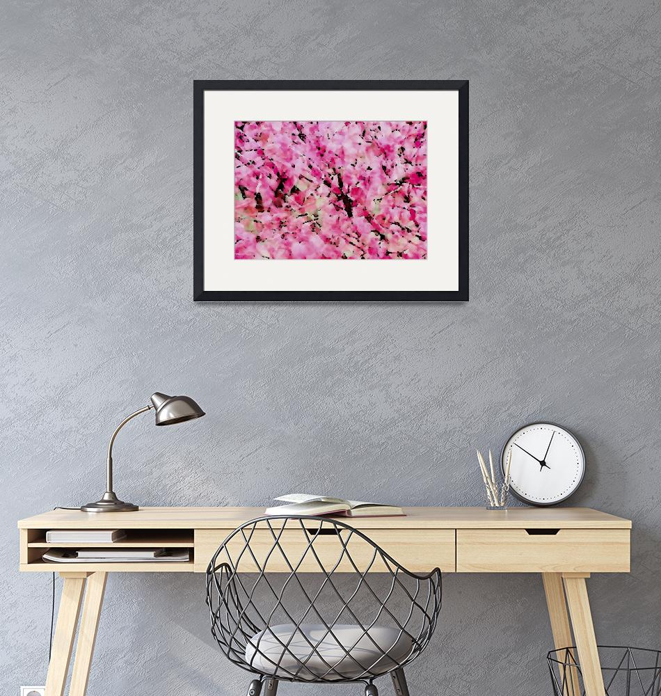 """pink winter flowering bush""  (1993) by rottlig"