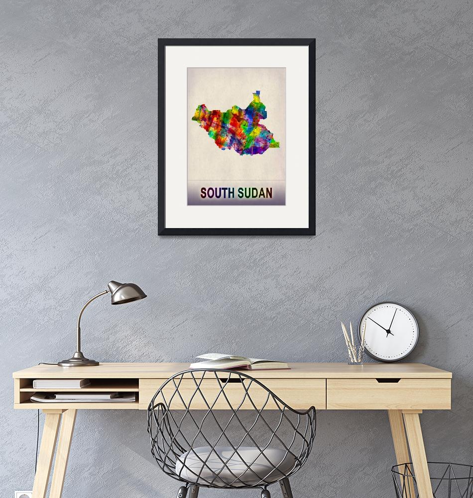 """""""South Sudan Map""""  by Towseef"""