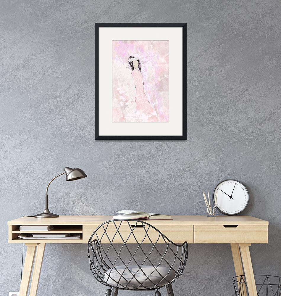 """""""Abstract Angel in Pink""""  (2018) by JessieLee72"""