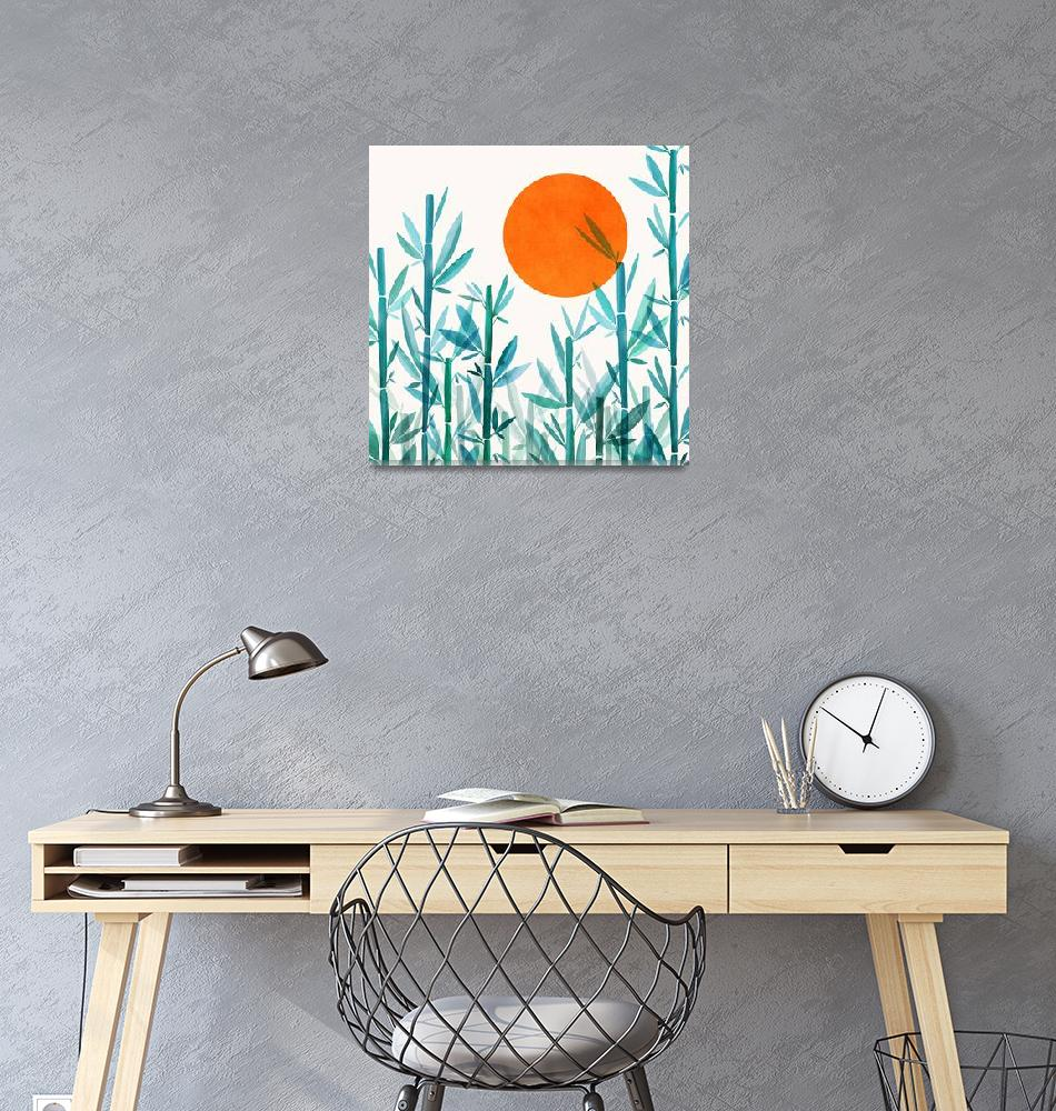 """Zen Garden Sunset""  (2019) by moderntropical"
