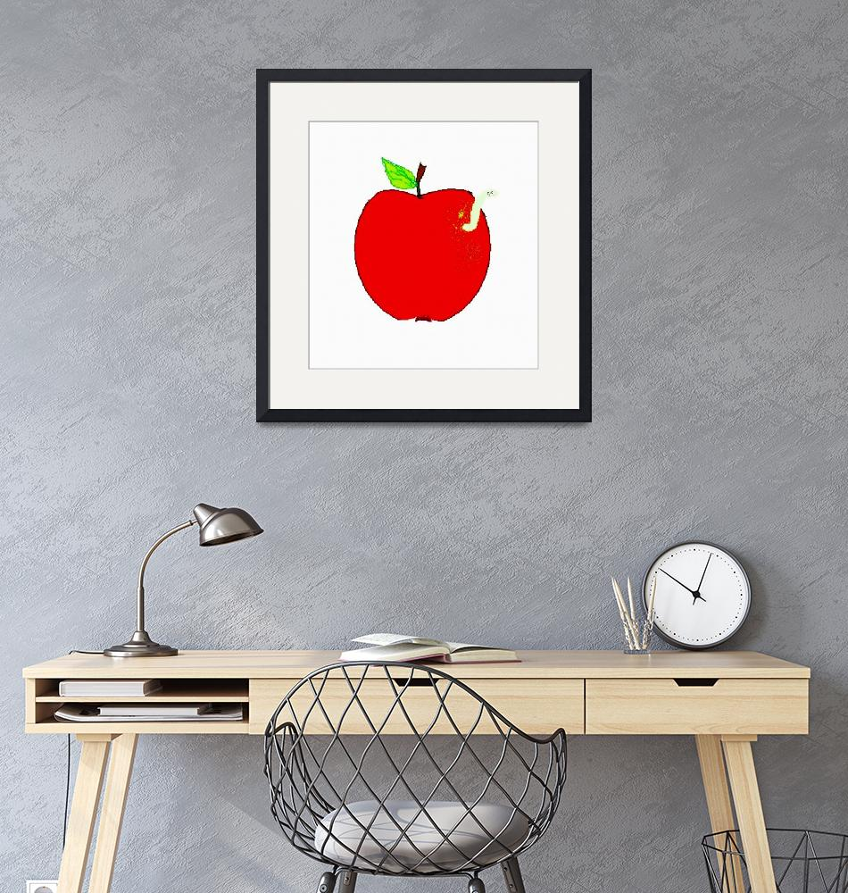 """""""Apple and Worm""""  (2010) by angbkrtreasures"""