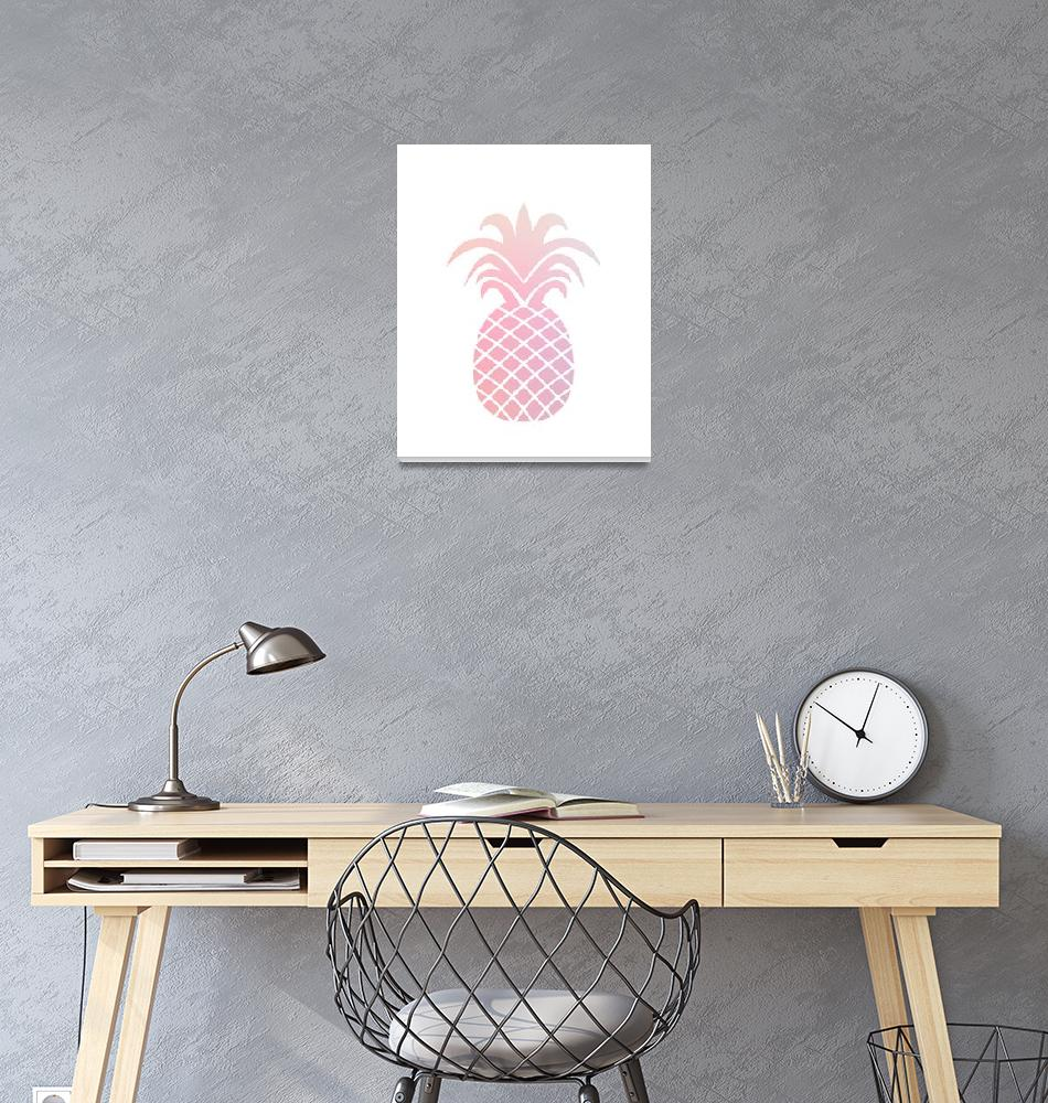 """""""Pink Peach Ombre Pineapple""""  by miscstudios"""
