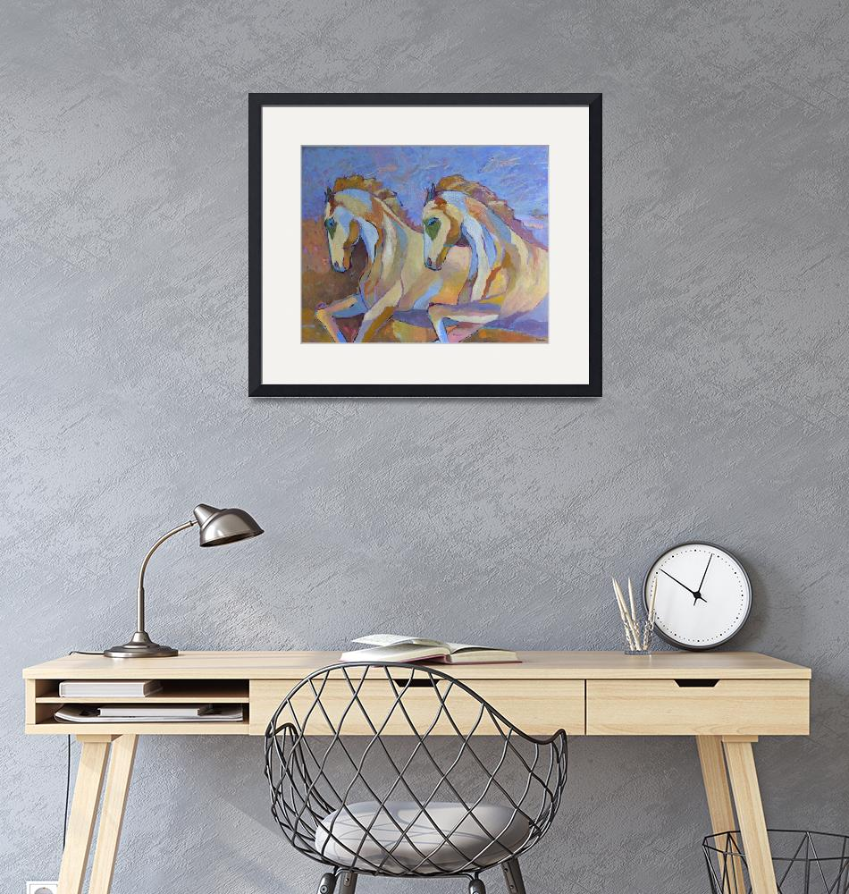 """""""Horses Galloping Animal Horse Portrait Home decor""""  (2018) by Maggy"""