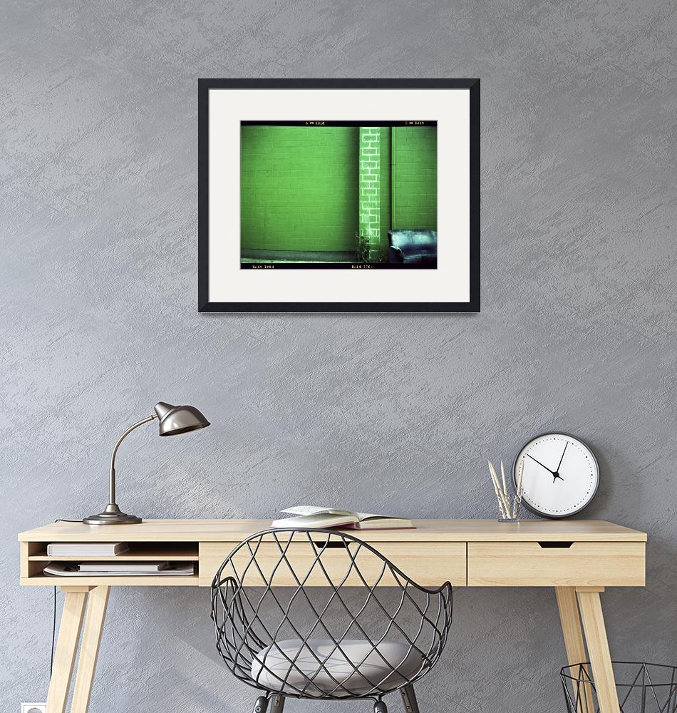 """""""Blue Couch Green Wall""""  (2007) by mylatehope"""