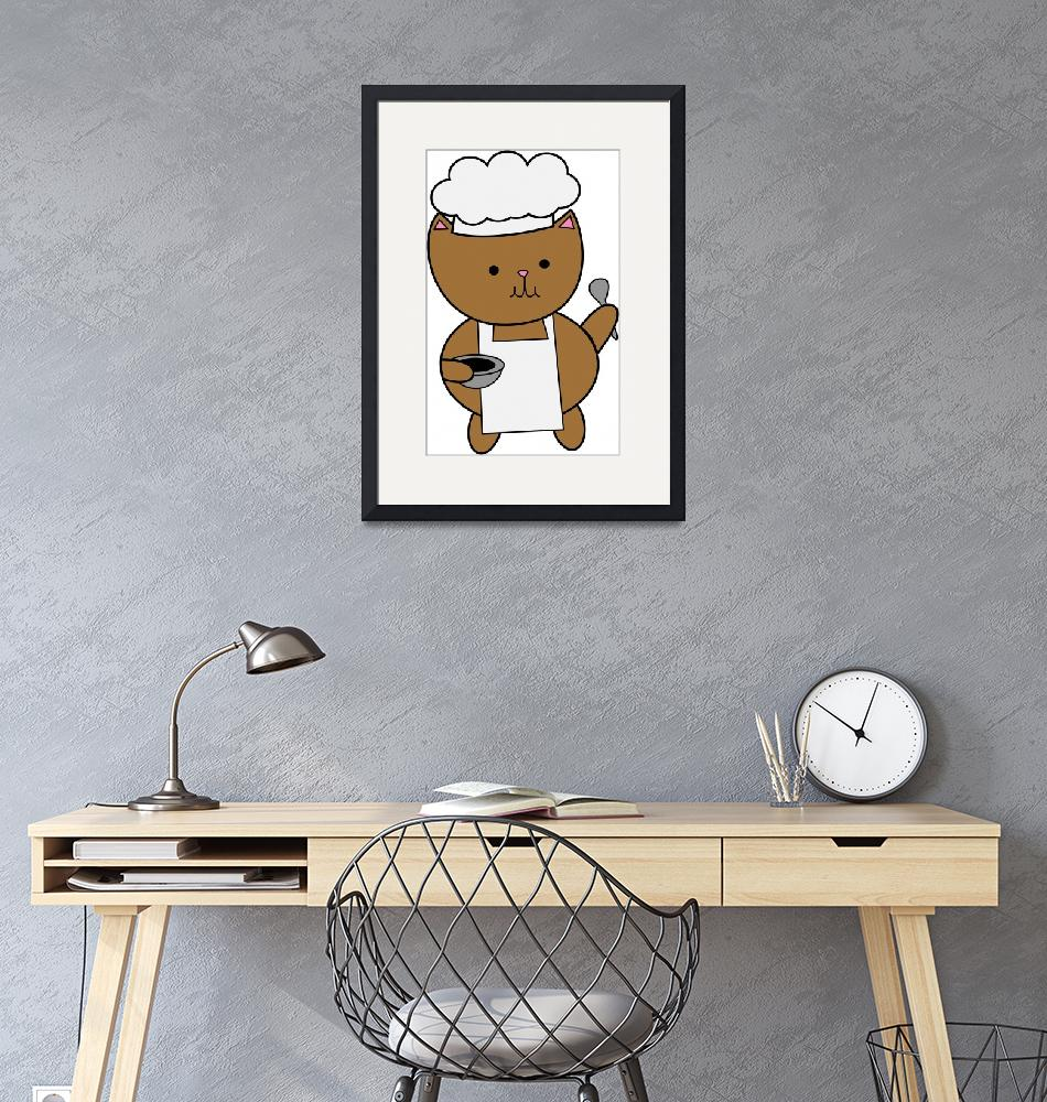 """""""Chef Cat Kitty""""  (2015) by ValeriesGallery"""