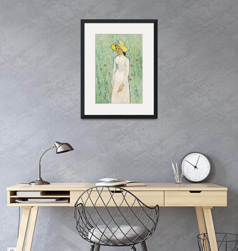 """""""Girl in White by Van Gogh""""  by FineArtClassics"""