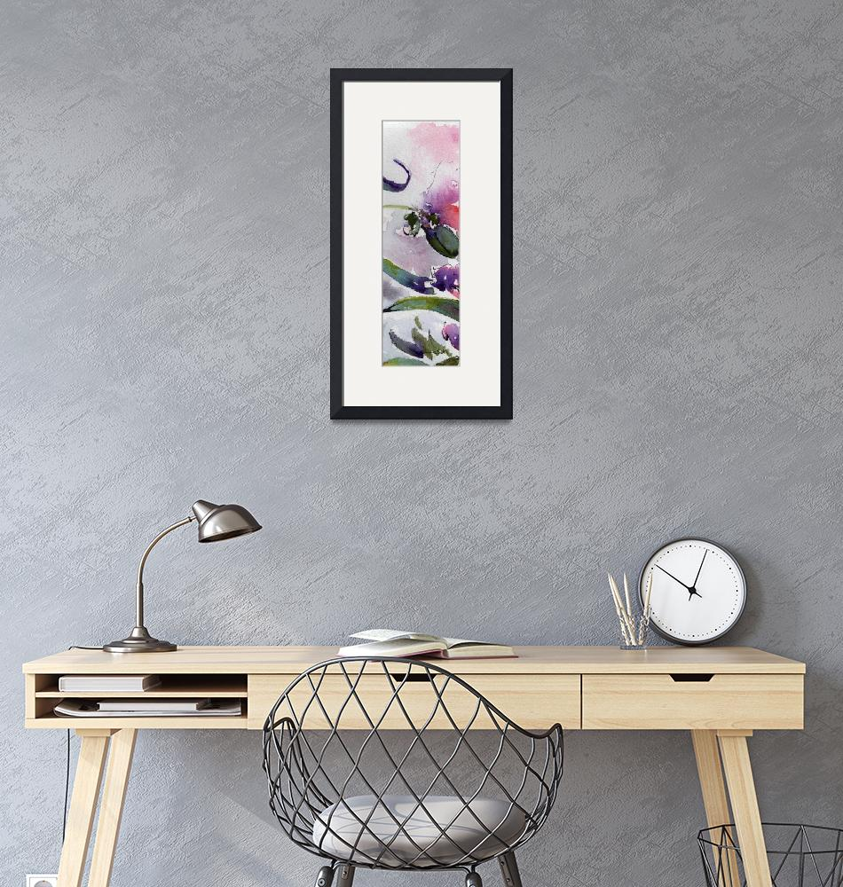 """""""Modern Floral Art Watercolor and Ink""""  (2016) by GinetteCallaway"""