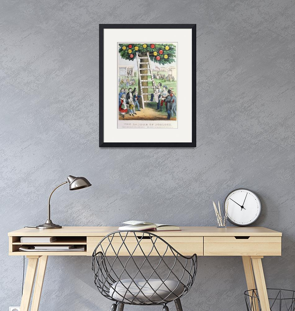 """""""The Ladder of Fortune by Currier and Ives"""" by fineartmasters"""