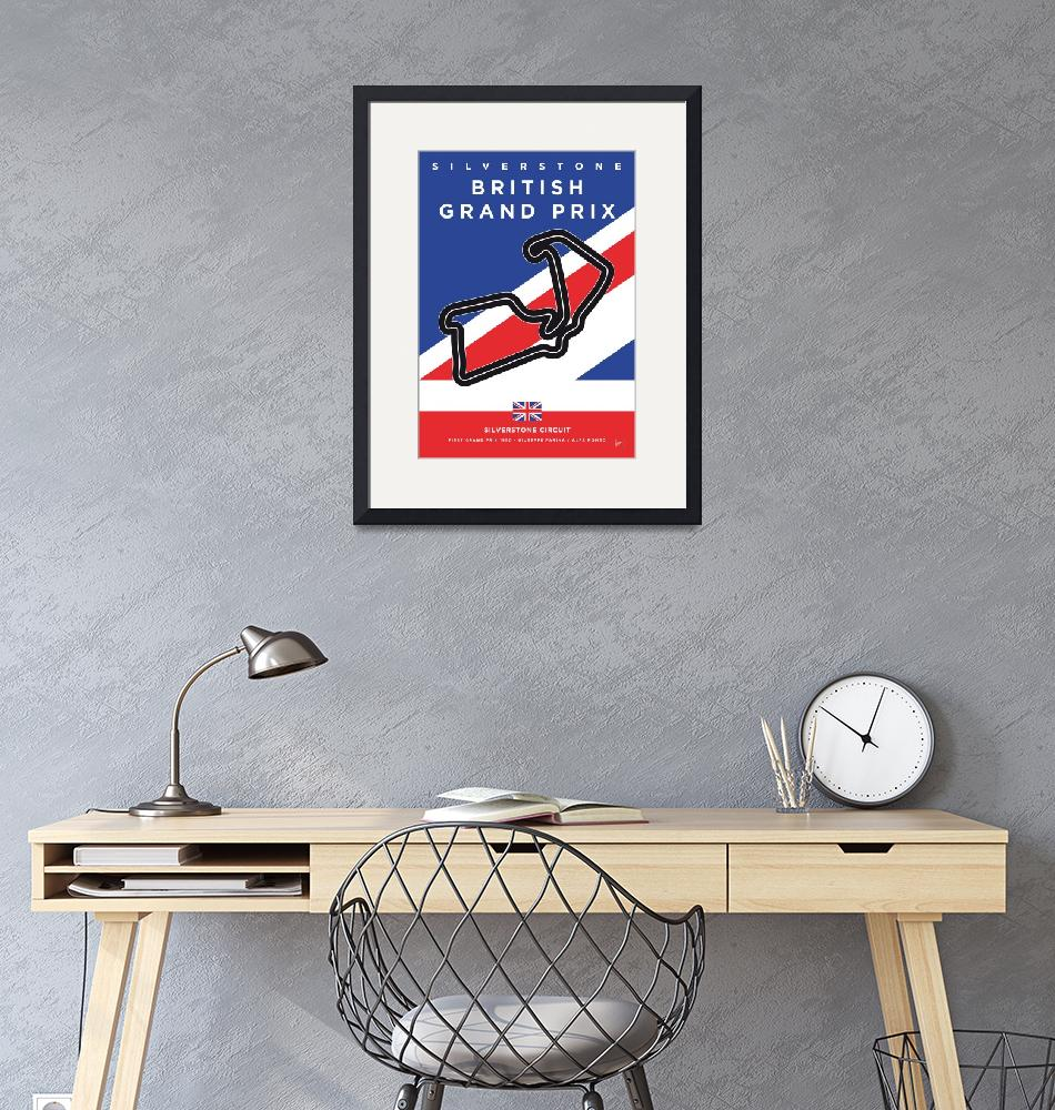 """My F1 SILVERSTONE Race Track Minimal Poster""  by Chungkong"