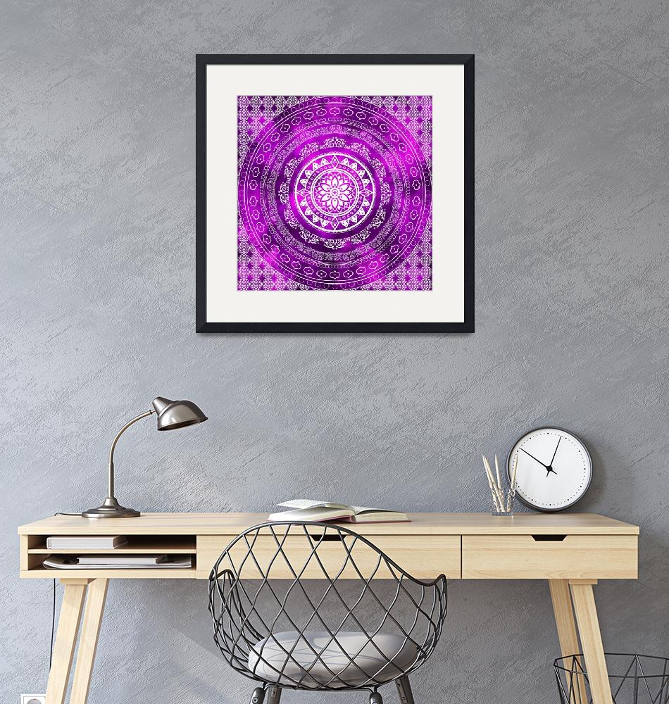 """Purple Destiny Purple & White Flower Of Life Boho""  (2019) by ImageMonkey"