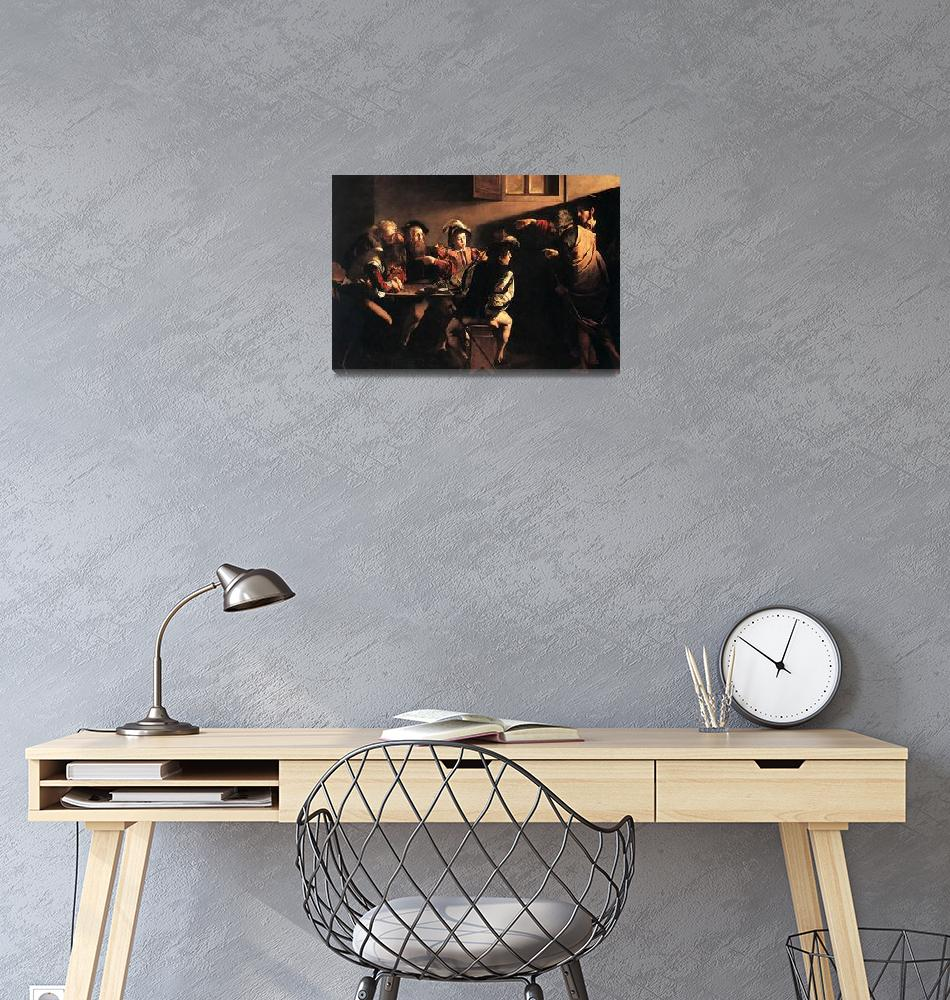 """""""Caravaggio The Calling Of Saint Matthew"""" by oldies"""
