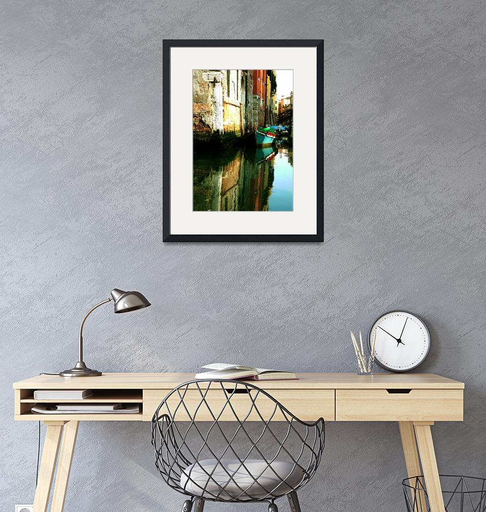 """""""Reflection of the Wooden Boat"""" (2006) by DonnaCorless"""