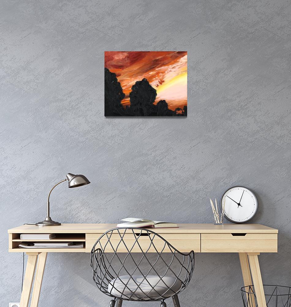 """""""Orange Sunset""""  (2008) by harryboardman"""