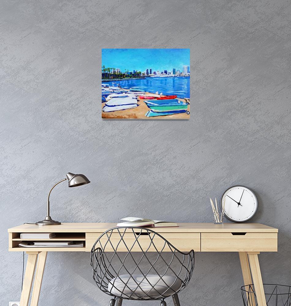 """Dinghy Beach Coronado Island""  (2014) by RDRiccoboni"