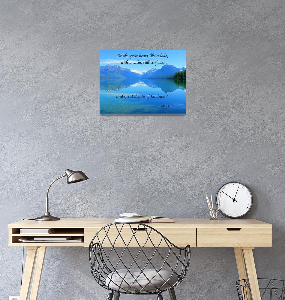"""Quotes Art Print Lao Tzu Quote""  by artsandi"
