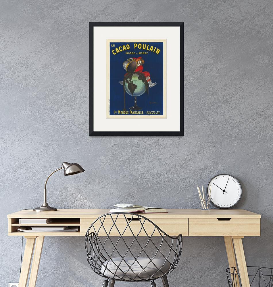 """""""Le Cacao Poulain by Cappiello Vintage Poster""""  by FineArtClassics"""