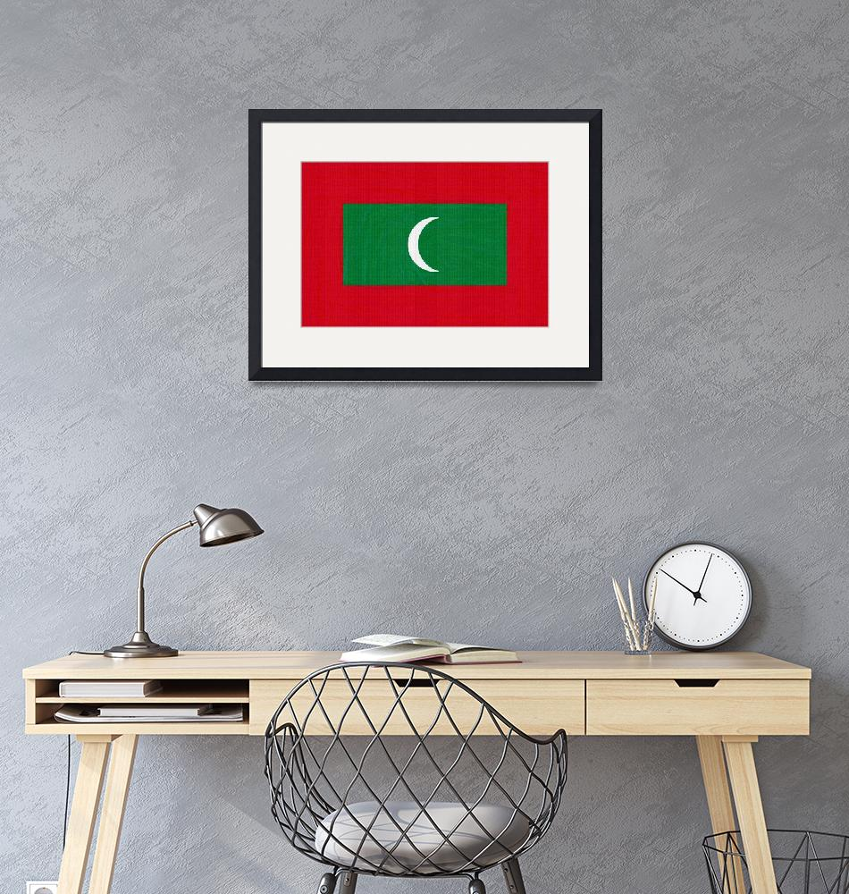 """""""Flag of Maldives ,  County Flag Painting ca 2020 b""""  by motionage"""