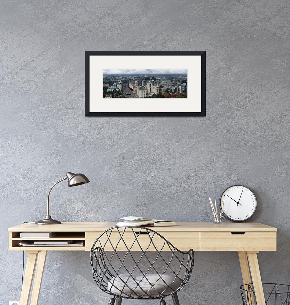 """Almaty Skyline Panoramic""  (2018) by robertgrac"