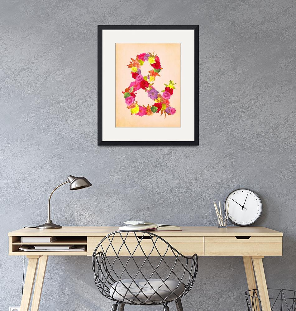 """Flower Ampersand""  (2012) by sweetblue"