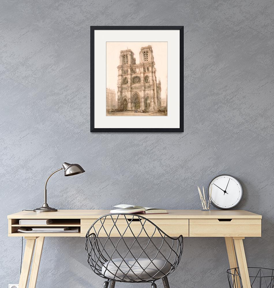 """""""Notre Dame, Paris by David Roberts, RA""""  by FineArtClassics"""