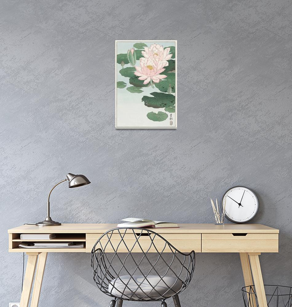 """""""Blooming Water Lily by Ohara Koson""""  by FineArtClassics"""