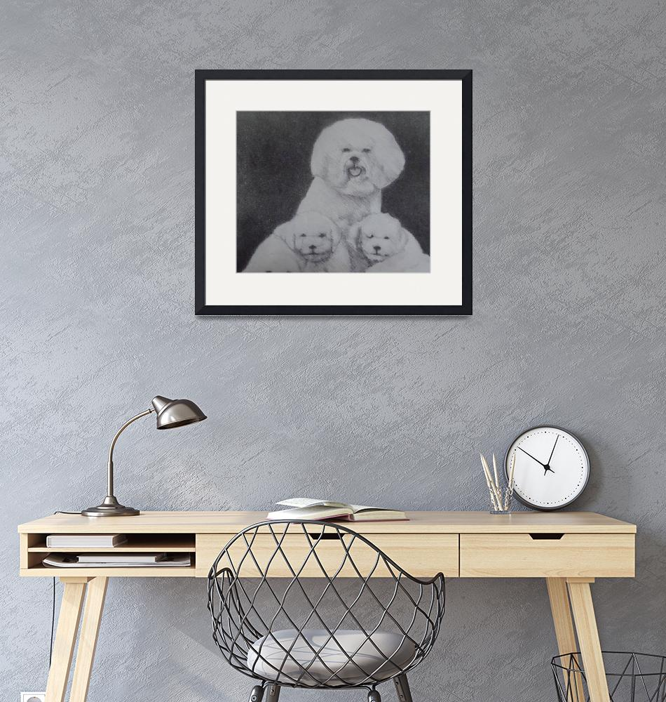 """""""bichon family""""  (2015) by mykeirving"""