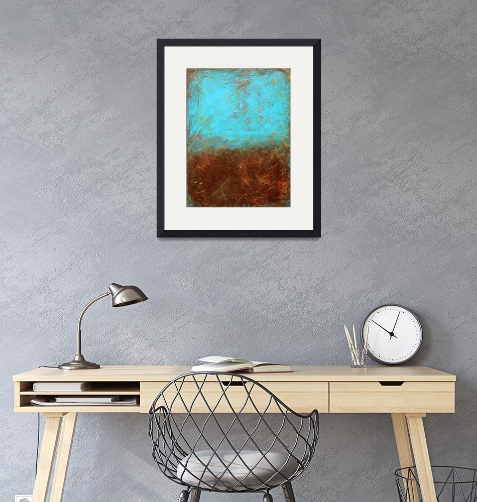 """""""Turquoise and Brown"""" (2012) by LizMoran"""