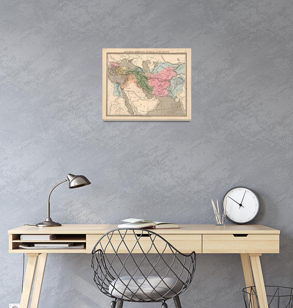 """""""Vintage Alexander The Great Empire Map (1838)""""  by Alleycatshirts"""