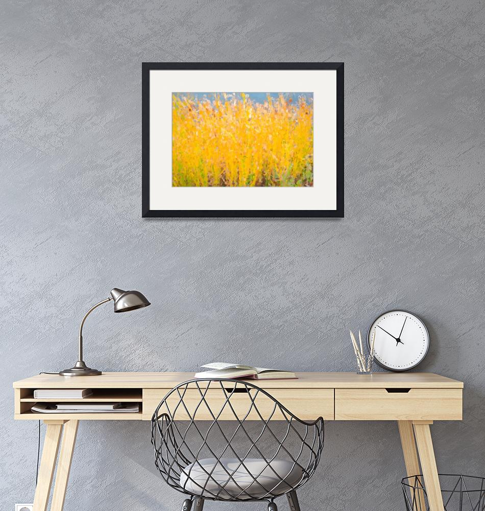 """""""Abstract Colorful Cattails Grasses Painting""""  (2018) by lightningman"""
