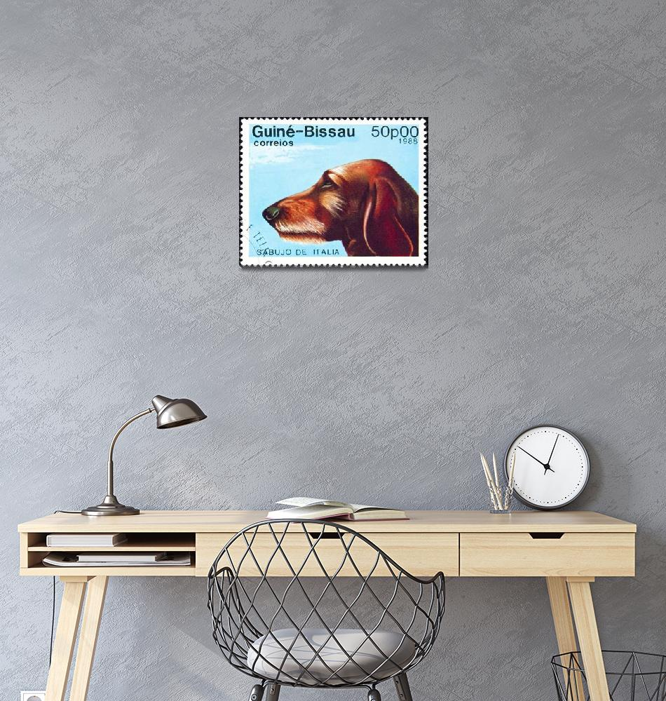 """Sabujo dog stamp.""  by FernandoBarozza"