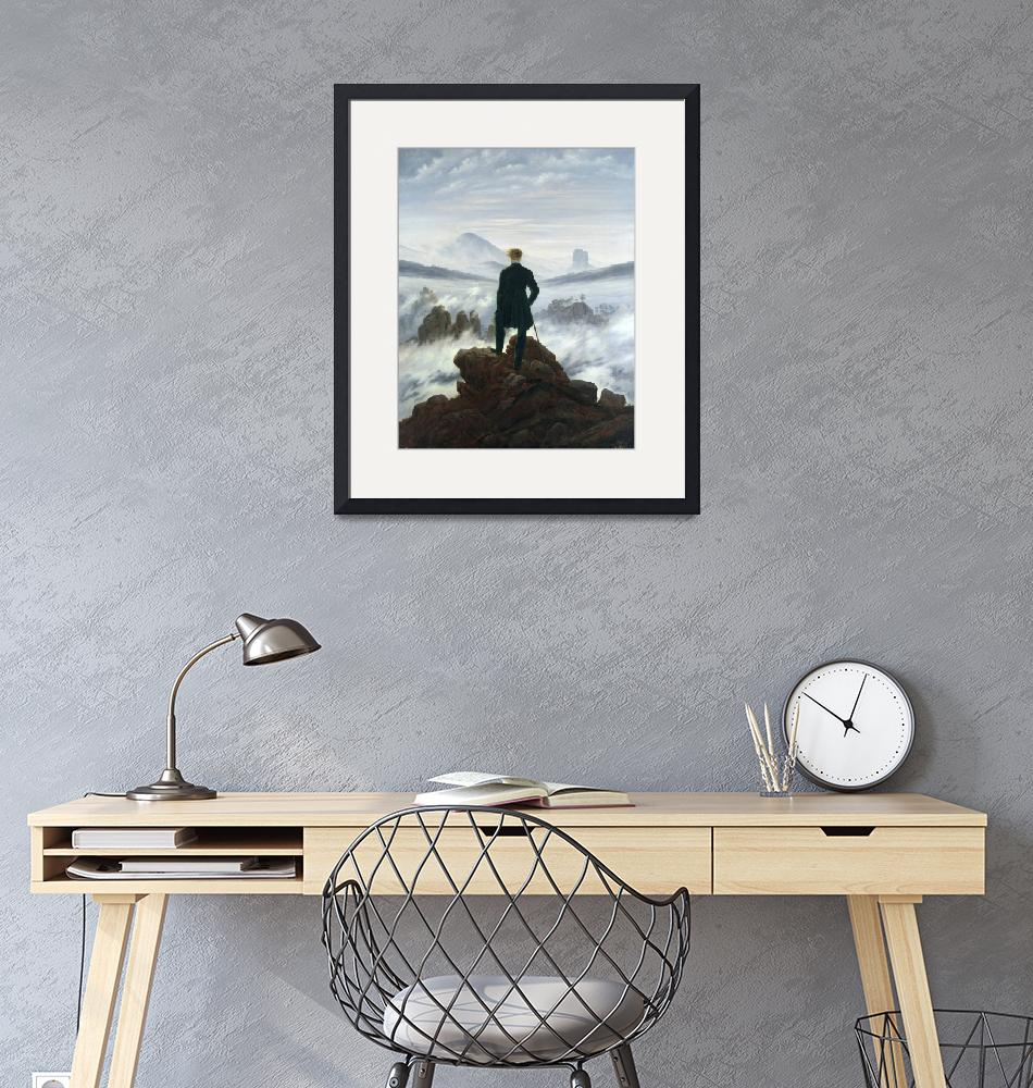 """""""Caspar David Friedrich~The Wanderer above the Sea""""  by Old_master"""
