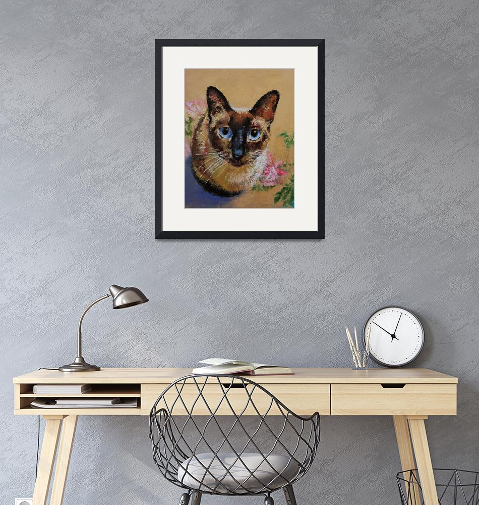 """Siamese Cat""  by creese"