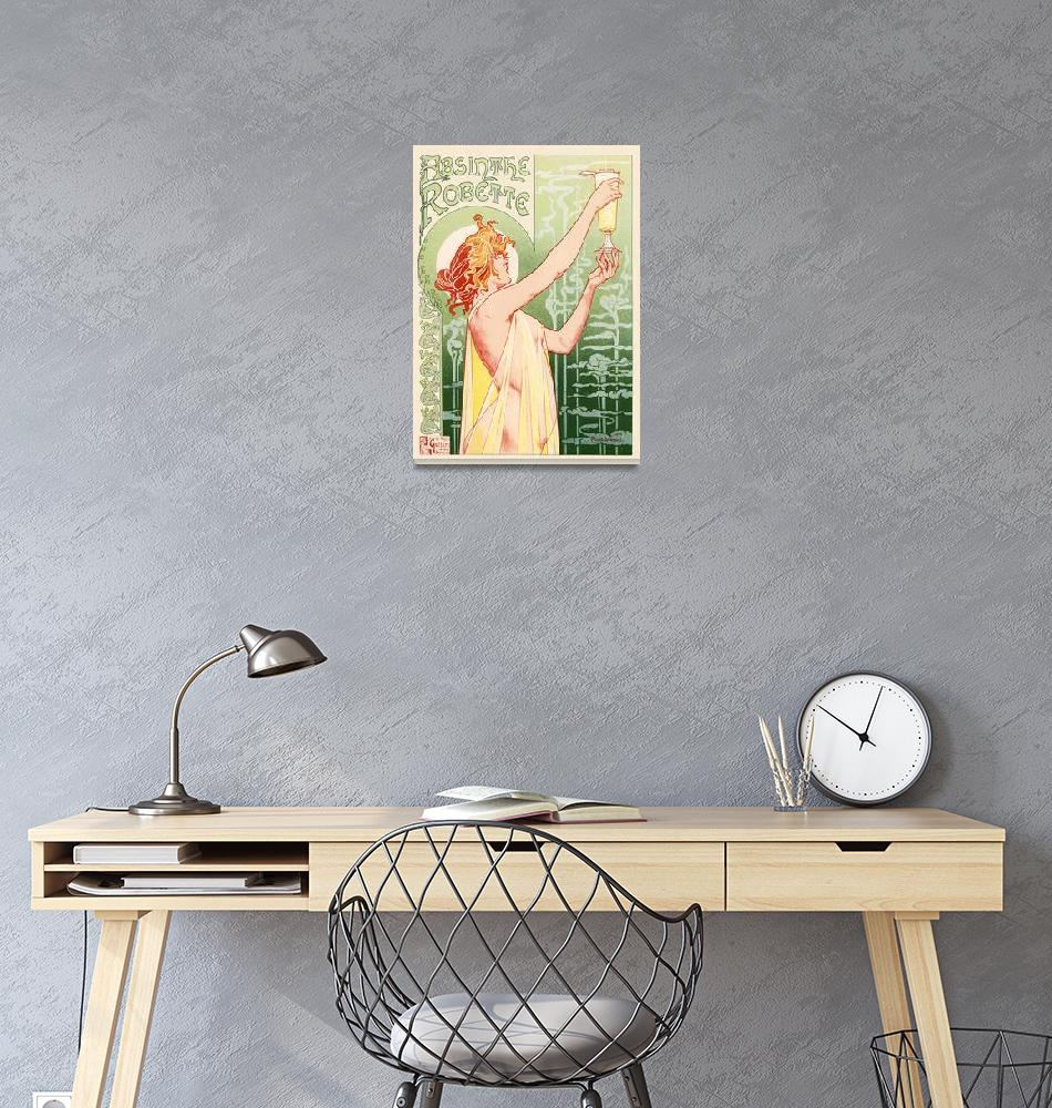 """Absinthe Robette by Privat-Livemont Vintage Poster""  by FineArtClassics"