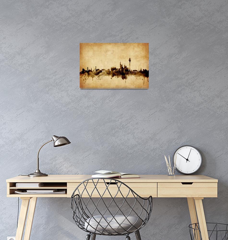 """Berlin Germany Skyline""  (2015) by ModernArtPrints"