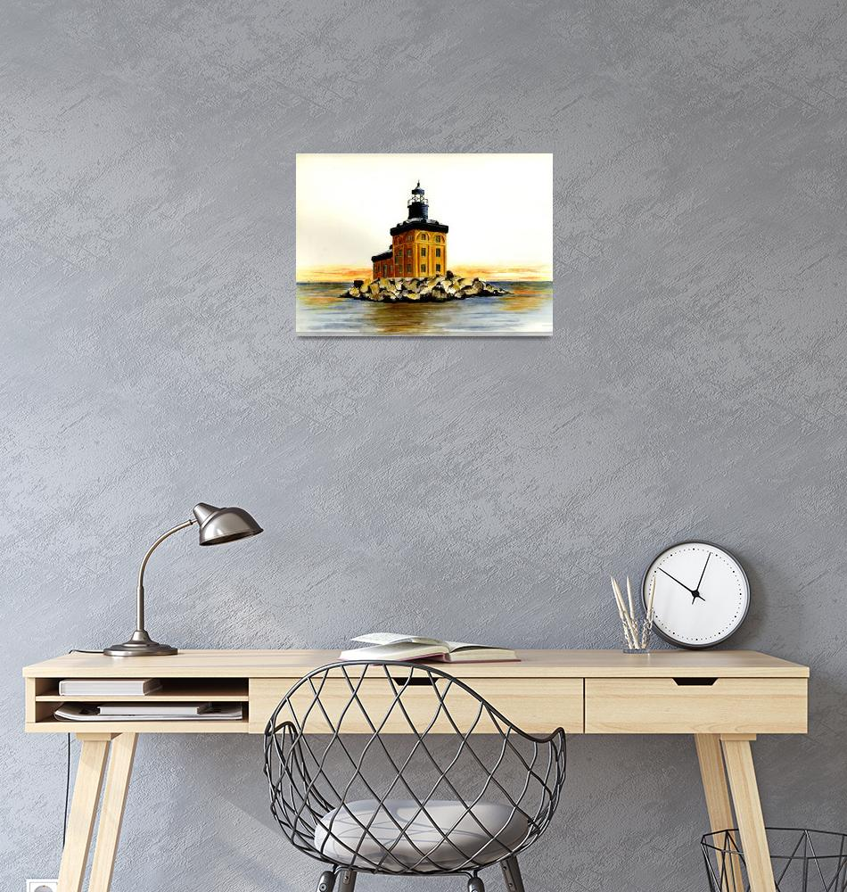 """Toledo Harbor Lighthouse""  (2003) by vigliotti"