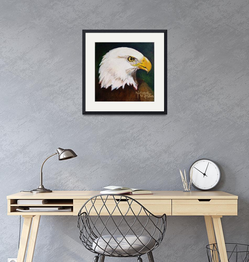 """Proud Eagle""  (2015) by normawilsonfineart"