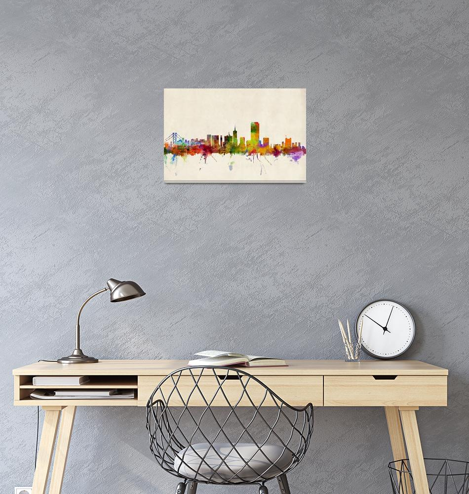"""San Francisco City Skyline""  (2013) by ModernArtPrints"