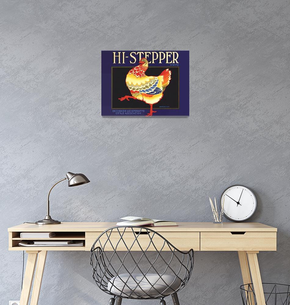 """Hi-Stepper Fruit Crate Label Vintage Poster""  by FineArtClassics"
