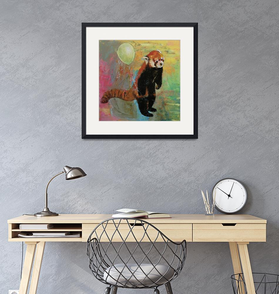 """""""Red Panda Balloon""""  by creese"""