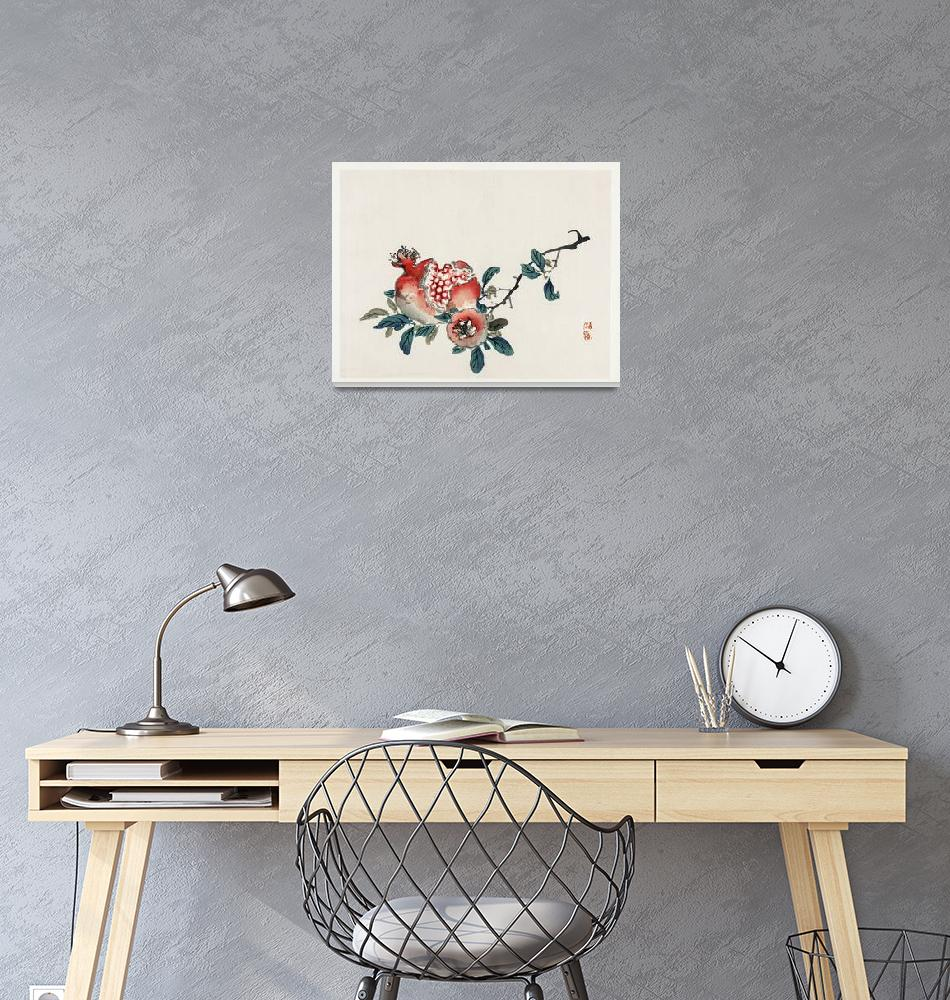 """Pomegranate by Kono Bairei""  by FineArtClassics"