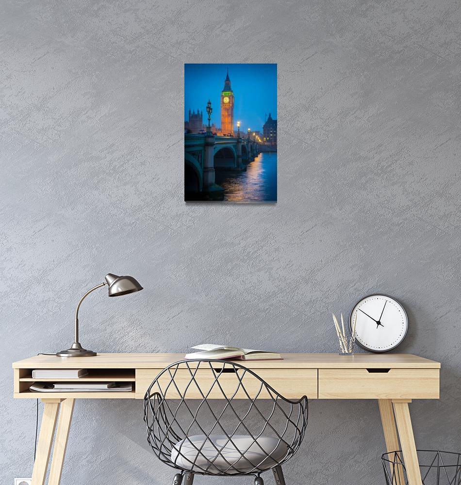 """Westminster Bridge at Night""  (2012) by Inge-Johnsson"