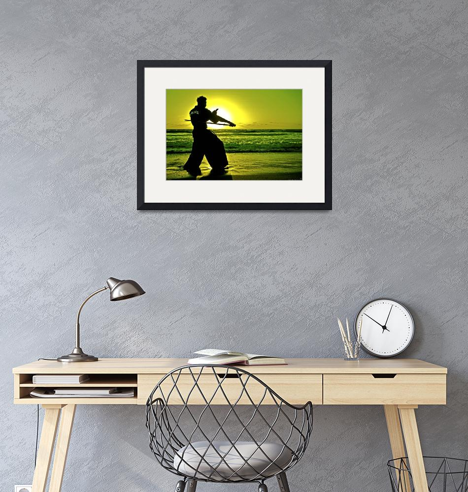 """Martial Arts Man Silhouette Katana Fighter LARGE""  by NovazziPhotoArt"