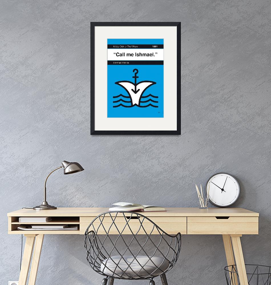 """""""No001-MY-MOBY DICK-Book-Icon-poster""""  by Chungkong"""