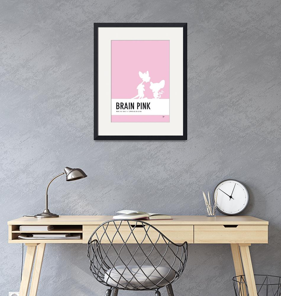 """No01 My Minimal Color Code poster Pinky and the Br""  by Chungkong"