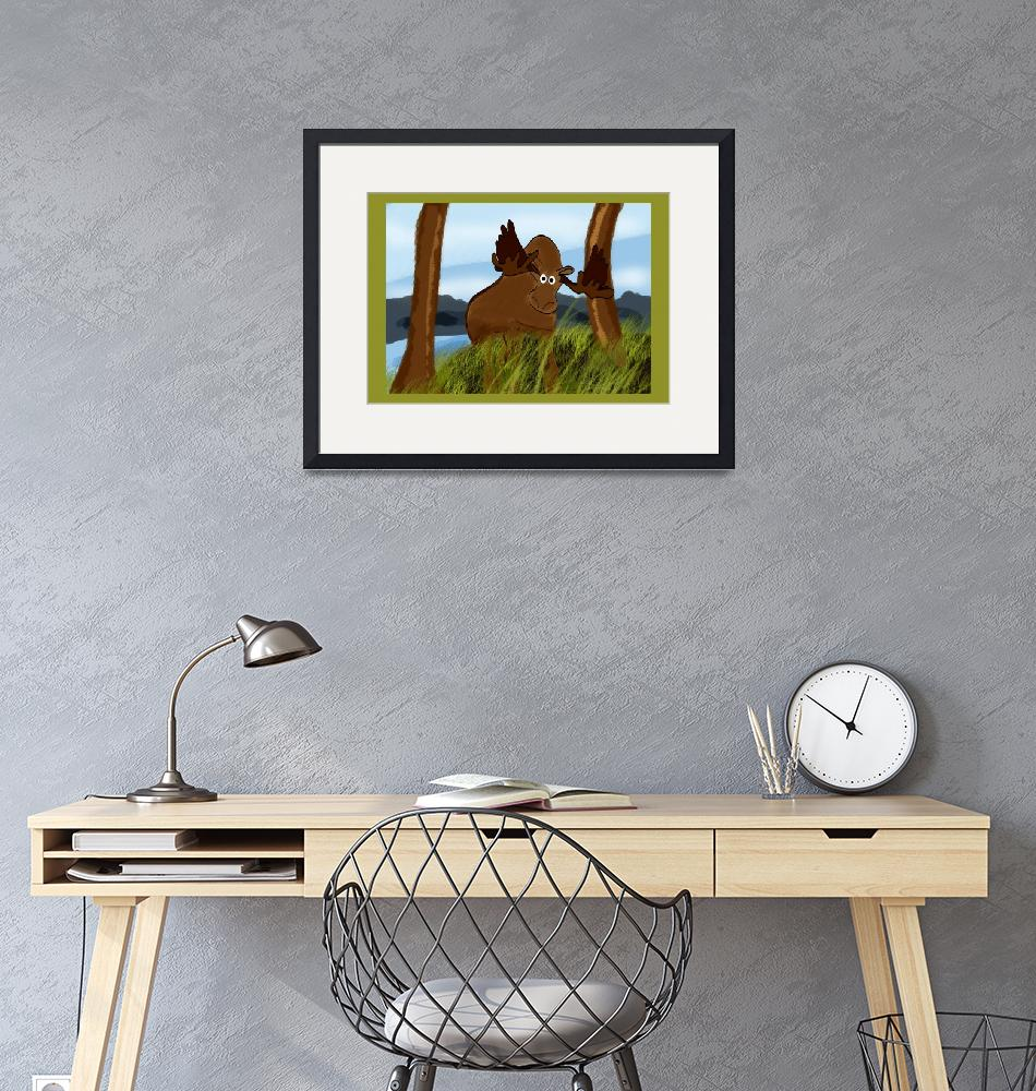"""Moose Painting""  (2008) by haydiz"