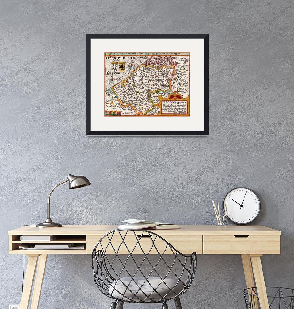 """""""Map of Flanders""""  by fineartmasters"""