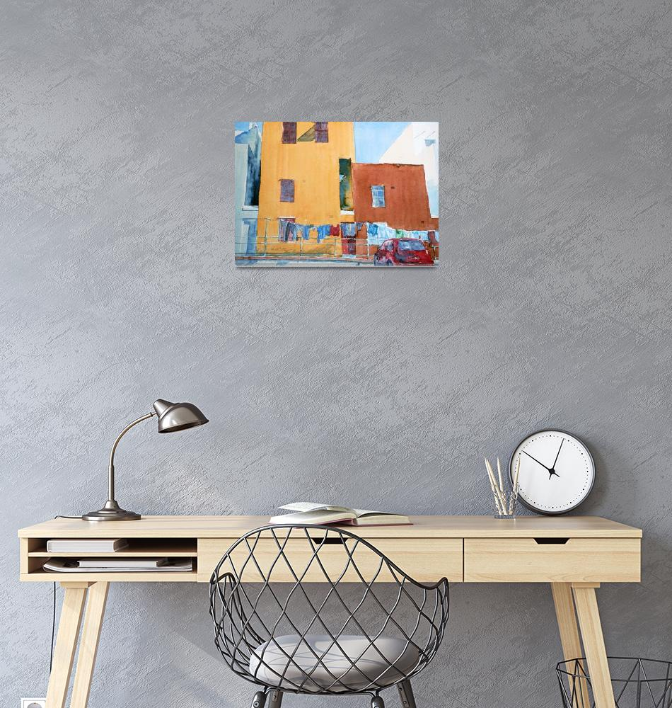 """Bo-Kaap Colorful Houses""  (2015) by ShaSha"