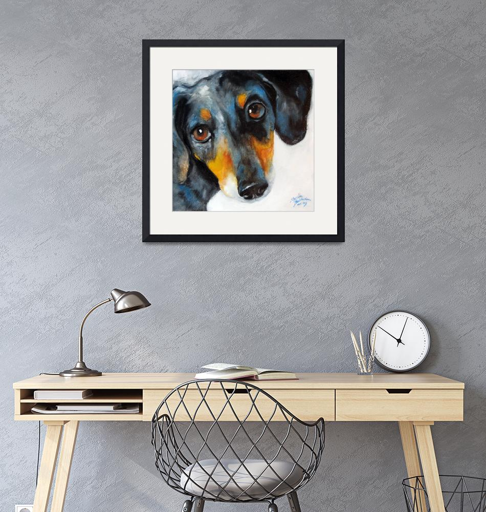 """DOXIE DAPPLED""  (2009) by MBaldwinFineArt2006"